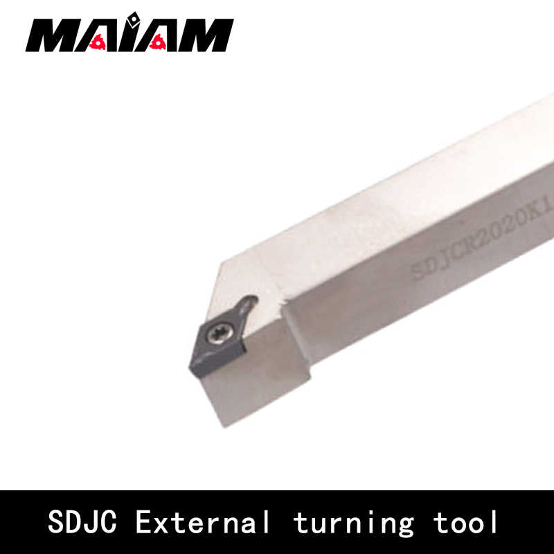 Right 125 mm Length Steel WIDIA SDJCR2020K15 SDJC Screw Clamp Toolholder for Positive Inserts 20 mm Square Shank 93/° Angle
