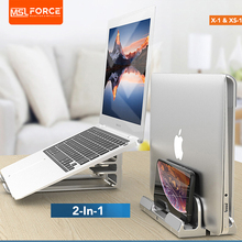 Space Saving 2 in 1 laptop stand vertical Riser design in aluminium alloy for MacBook Air and MacBook Pro or other laptops talberg space pro 2