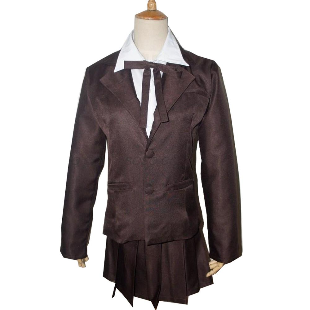 2019 Dangan Ronpa Ikusaba Mukuro Cosplay Costume High Quality Custom Deep Green Uniform