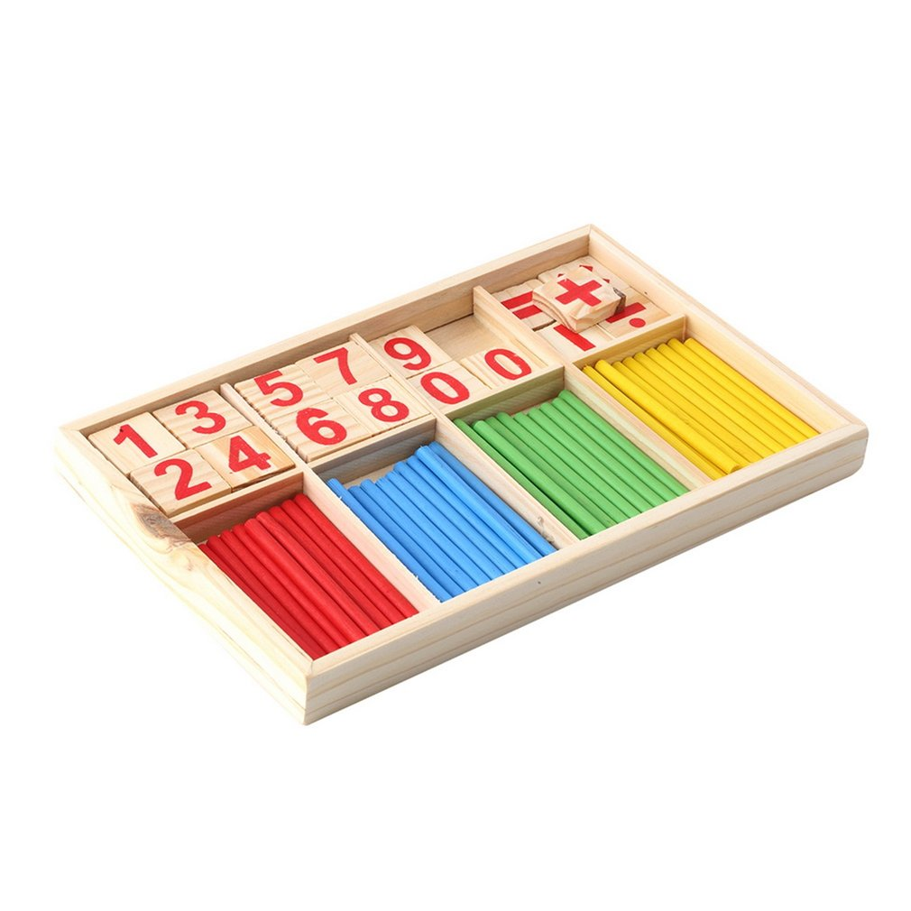 Baby Education Toys Wooden Counting Sticks Toys Montessori Math Baby Gift Wooden Box Early Education Inlightenment Toy New Hot