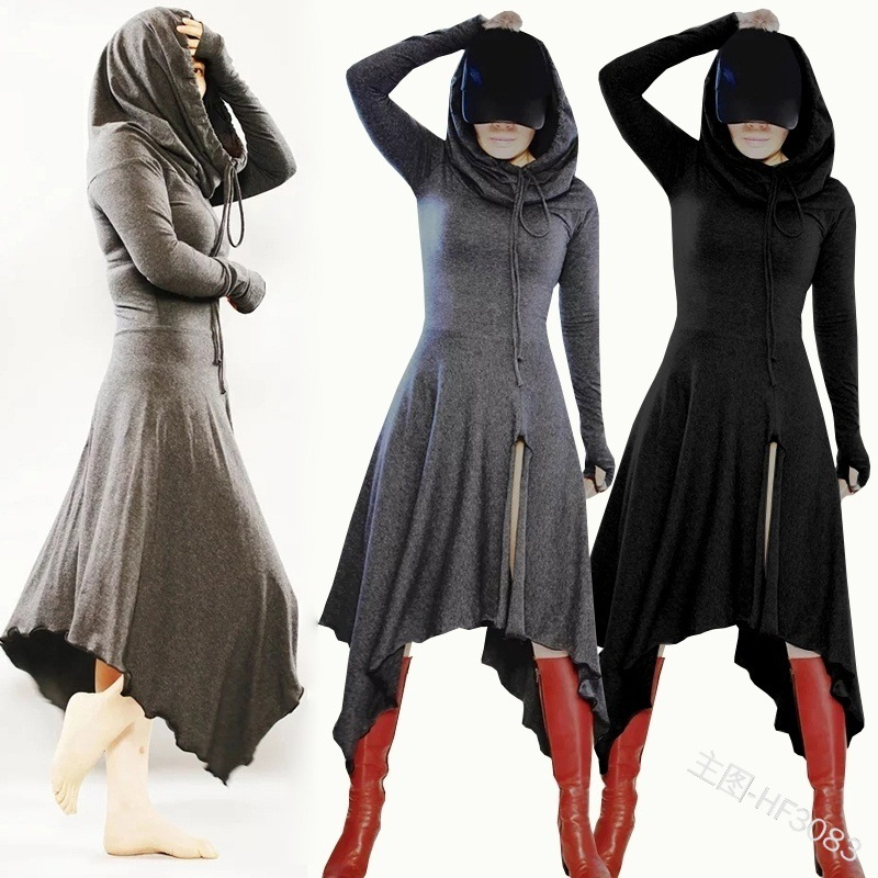 Renaissance Medieval Hooded Dresses Carnival Halloween Costumes For Women Cosplay Princess Party Victorian Fancy Dress