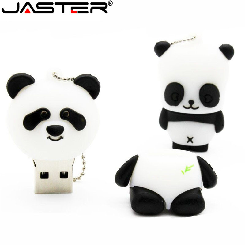 JASTER Animal Panda  USB Flash Drive Mini Panda Pen Drive  Special Gift Fashion Hot Sale Cartoon 4GB/8GB/16GB/32GB/64GB