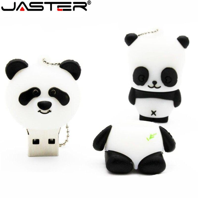 JASTER Animal Panda  USB Flash Drive Mini Panda Pen Drive  Special Gift Fashion Hot Sale Cartoon 4GB/8GB/16GB/32GB/64GB