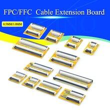 2 шт. FPC FFC Гибкая плоская плата удлинителя кабеля 0,5 мм/1,0 мм Шаг 6 8 10 12 14 20 30 40 50 контактный разъем