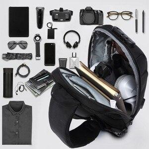 Image 5 - OZUKO 2020 nouveau sac à bandoulière multifonction pour hommes Anti vol épaule sacs de messager mâle étanche court voyage poitrine sac Pack