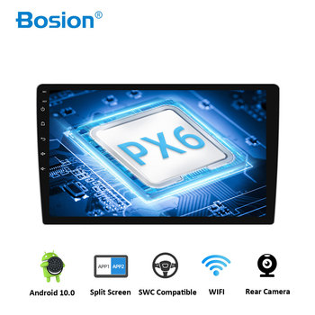 Bosion Android 10.0 Six Core PX6 Car Radio Stereo GPS Navi Audio Video Player Unit PC Wifi BT HDMI AMP 7851 OBD DAB+ SWC IPS DSP