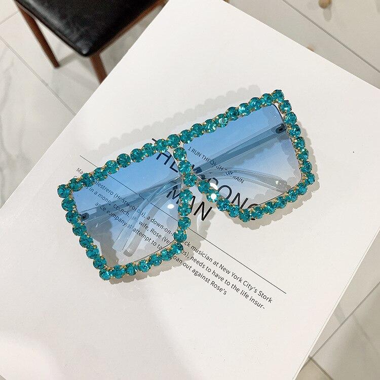 Luxury Brand Square Women Sunglasses 2021 trend Retro Sunglass Lady Oversized Rhinestone Decoration Sun Glasses Shades For Women (11)