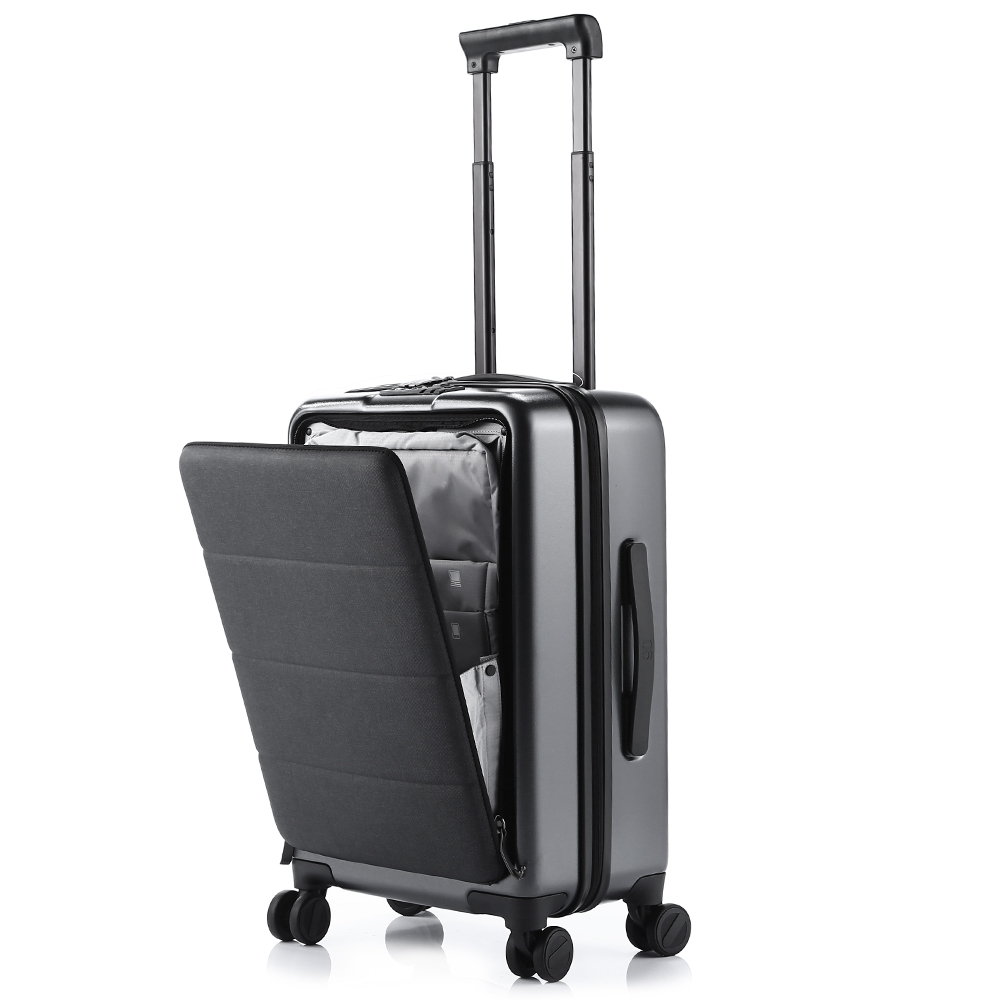90FUN 20'' Rolling Hardside Carry-ons Luggage Opening Cabin Travel Suitcase Spinner Wheel Scratch-proof Adjustable Handle