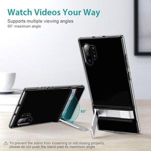 Image 2 - ESR Metall Ständer Fall für Samsung Galaxy Note 10 S10 e Plus Abdeckung Stoßfest TPU Business Telefon Fall für Samsung note10 + 5G