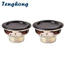 Alto falante tenghong 2 peças, 52mm 16 core, à prova d água, 4ohm 10w, bluetooth, alto falante de frequência completa, dupla magnética, alto falante multimídia faça você mesmo