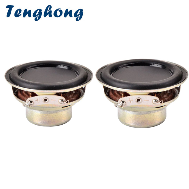Tenghong 2pcs 52MM 16 Core Waterproof Speaker 4Ohm 10W Bluetooth Full Frequency Speaker Dual Magnetic Loudspeaker Multimedia DIY