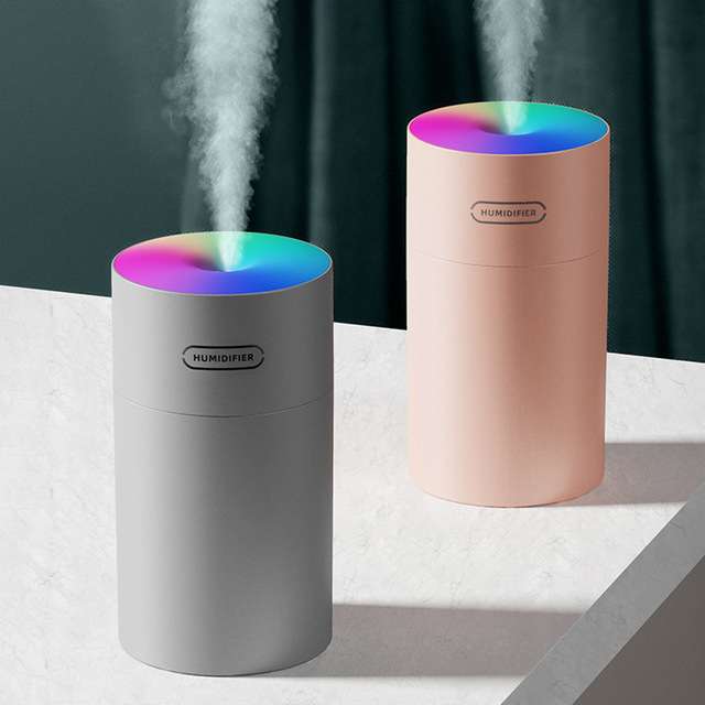 Humidificador de aire, difusor de aceite, Usb MINI, 270ML, generador de niebla de luz romántica ultrasónica, purificador de aromaterapia para el hogar y el coche 1
