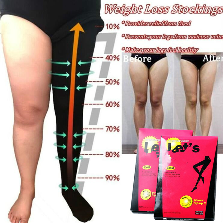 Super Pantyhose Compression Stocking For Women Fat Burn Anti Cellulite Slimming Tights Control Leg Shaper Weight Loss Stockings