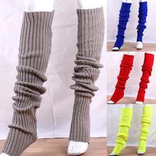 Women Socks Elastic Solid Color Thigh High Socks Knitted Long Socks Over Knee Stocking Medias de Mujer чулки женские эротические