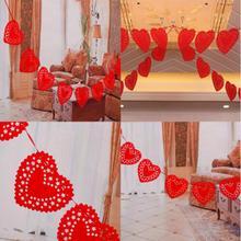 3 м вечерние гирлянда баннер овсянка футболки красного цвета с сердцем и надписью «Love» нетканые ткани Свадебная вечеринка вечерние флаг