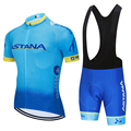 2020 Team ASTANA Radfahren Kleidung Set Herren Fahrrad Maillot MTB Racing Ropa Ciclismo Sommer Hombre Roupa Bike Jersey