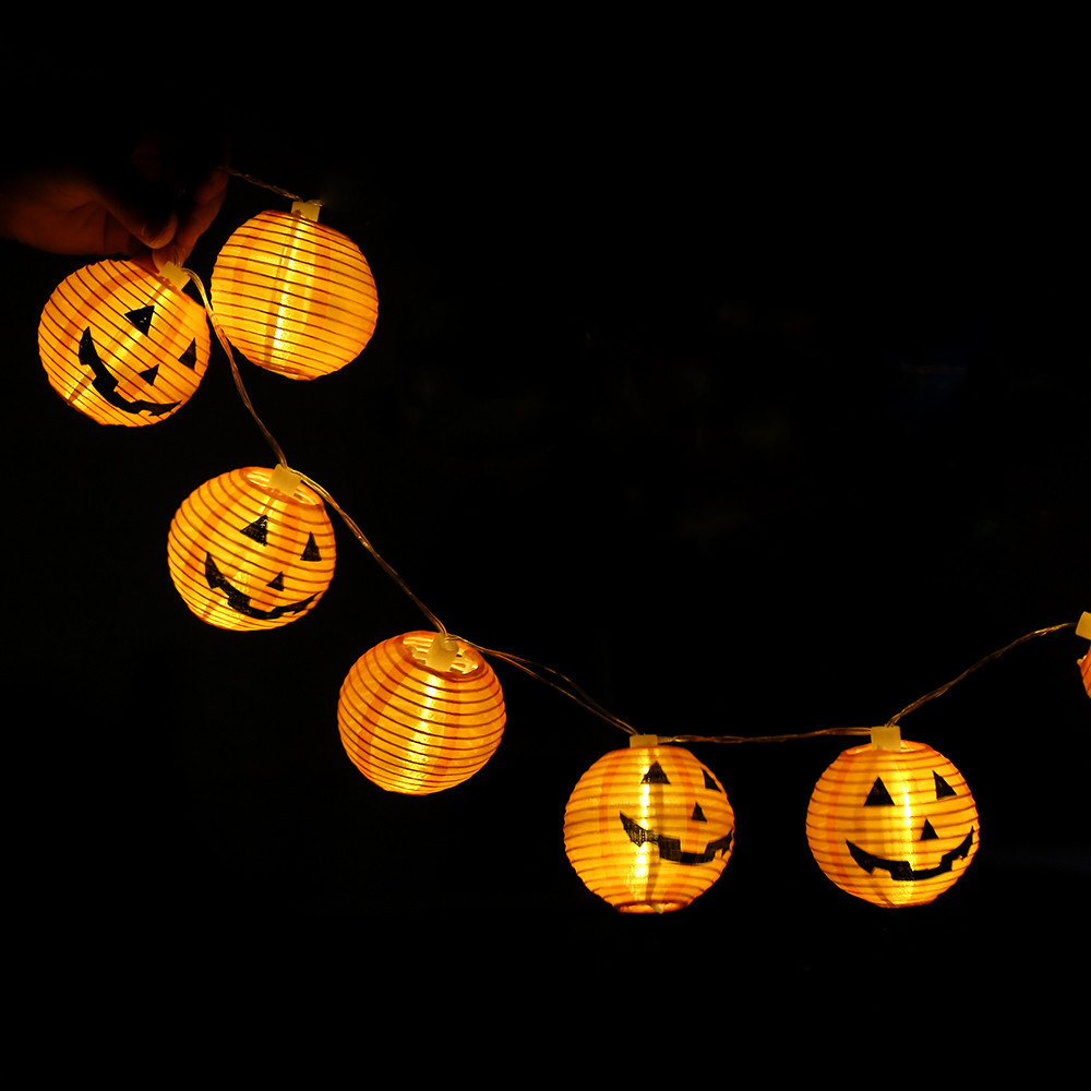 Pumpkin String Lights Halloween Decorative Lights With 6 LED Beads Low Energy Festival Atmosphere Set Off Decorative Lights #10