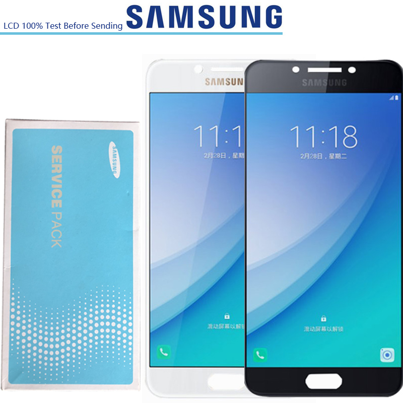 5 7 NEW ORIGINAL SUPER AMOLED LCDs Display For Samsung Galaxy C7 Pro C7010 SM C7010Z