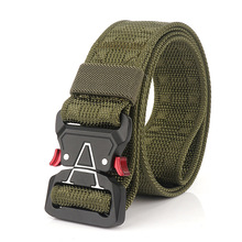 Nylon Belt Waistband Buckles Adjustable Army Quick-Release Military Tactical Metal Canvas