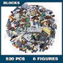 520 peças mundo mágico dos feiticeiros hagrid hut buckbeak resgate casa harris 11343 modelo blocos de construção brinquedos compatíveis com tijolos