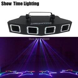 Mostrar tiempo 4 lente Sector DJ láser RGB 3IN1 Color rayo láser línea scanner Disco láser buen uso para fiesta en casa KTV CLub de noche