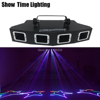 Show Time 4Lens Sector DJ Laser RGB 3IN1 Full Color Laser Beam Line Scanne Disco Lazer Good Use For Home Party KTV Night CLub