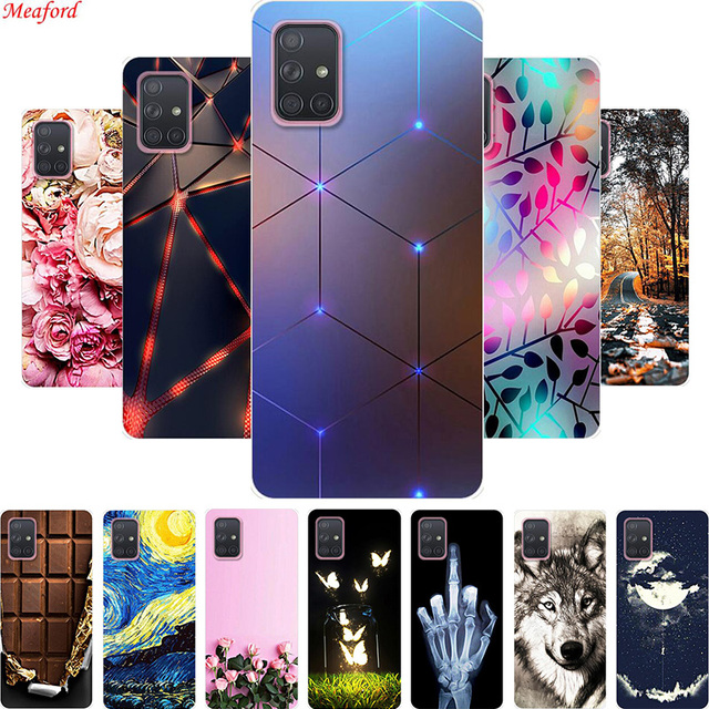 Popularny pokrowiec do Samsung Galaxy A71 A51 A 51 pokrowiec z miękkiego silikonu pokrowiec do Samsung A71 A31 A51 pokrowiec A50 A 71 A 51 Funda