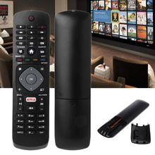 สีดำรีโมทคอนโทรลสำหรับ Philips NETFLIX Smart TV 398GR08BEPHN0012HT 1635008714 43PUS6162 398GR08BE