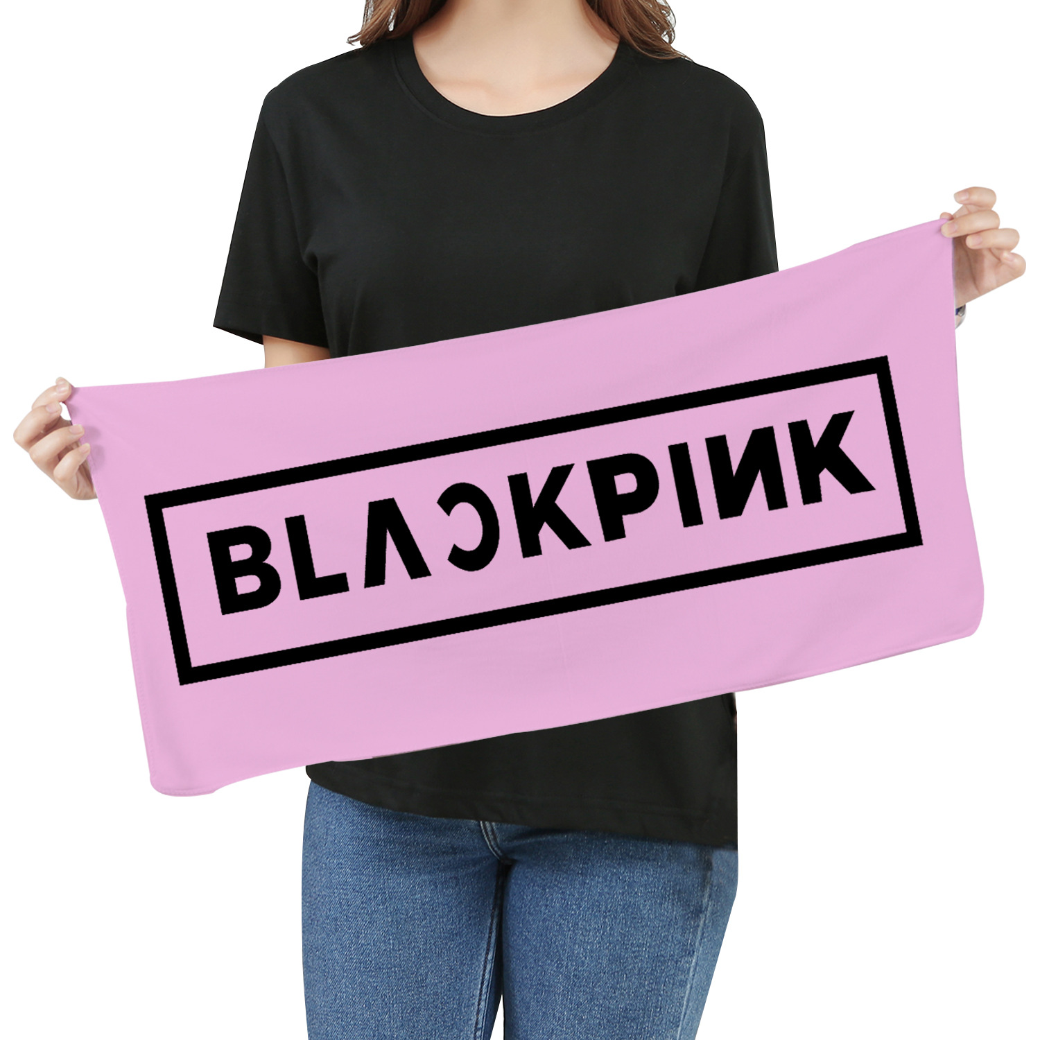 Blackpink Kpop 2019 New Peripheral Towel Wash Bath Towel Face Towel Home Soft Absorbent Small Square Men And Women