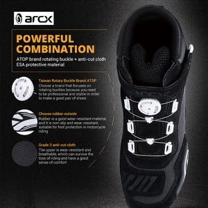 Image 5 - Мотоботы ARCX Botas Moto для мужчин; Обувь для мотокросса; Мотоботы; Ботильоны с регулировкой