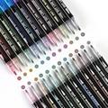Новый 24 цвета металлик двойной контур искусство Marcadore для скрапбукинга плуги цветов плуги для надписи