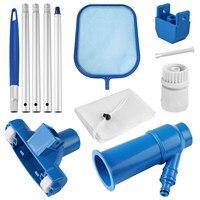 Kit de limpieza de piscinas, cabezal de limpiador de chorro, herramientas de mantenimiento con red de limpieza para piscina, Spa, fuente de estanque