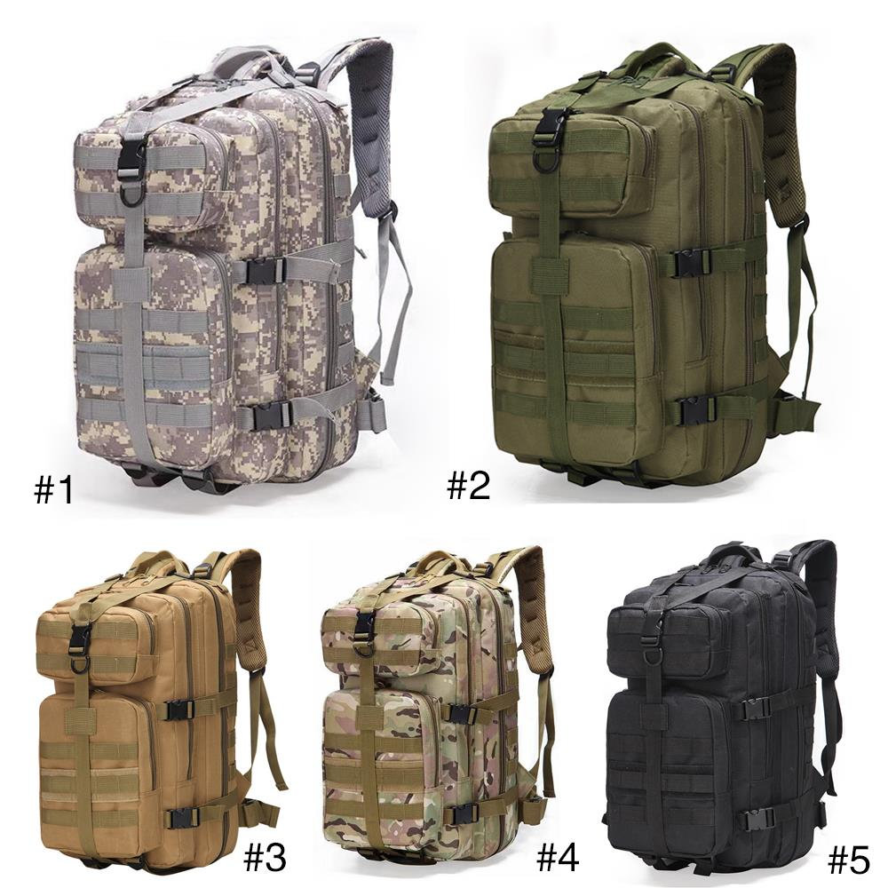 Military Backpack Practical Durable 800D Waterproof Oxford 35L Picnic Field Survival Outdoors Mountaineering Backpack