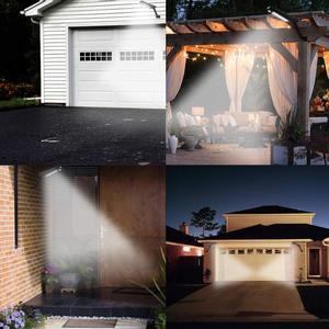 Image 5 - Le plus récent 66 led lumière solaire jardin extérieur étanche lampe murale télécommande lampe solaire pour pont patio étape paysage