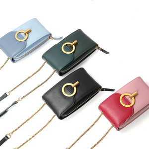 Image 5 - Women Genuine Leather Phone Pouch Bags for iPhone X XS 6 7 8 Small Shoulder Bag for Samsung S9  Crossbody Bags Women Phone Bag