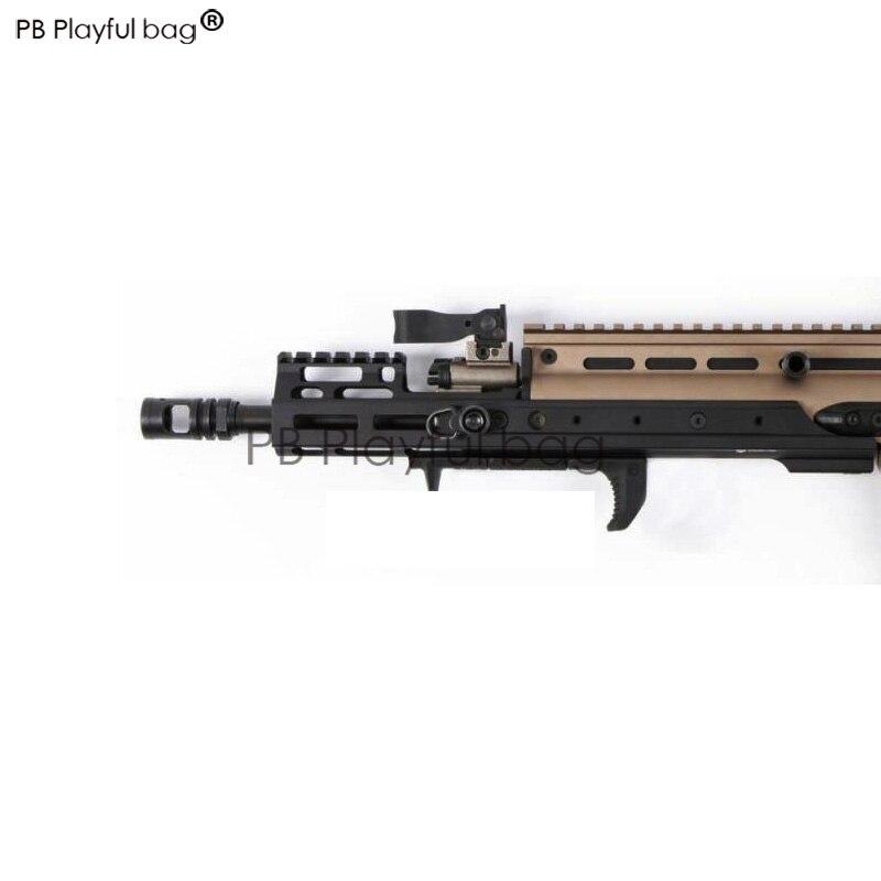 PB Playful bag Outdoor sports fun toy LDT SCAR-H MK17 modified long fishbone CNC handguard water bullet gun accessories OD55