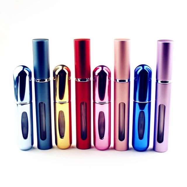 1 قطعة جودة عالية 5 مللي زجاجة عطر صغيرة المعادن البخاخ إعادة الملء زجاجة عطر من الألومنيوم حجم السفر