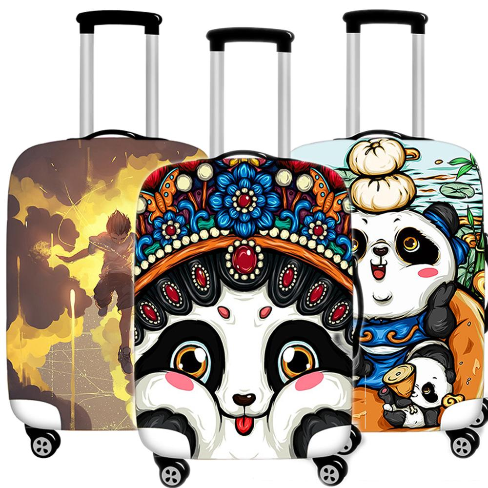 Cute Animal Panda Luggage Case Protective Cover Waterproof Thicken Elastic Suitcase Trunk Case 18-32 Inch XL Travel Accessories