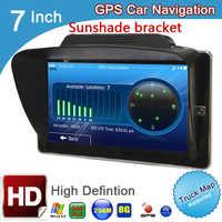 Navegador GPS para vehículo, dispositivo de navegación de coche con radio fm y ddr3 de 7 pulgadas, HD, 800x480, 256M de ROM y 8GB, windows CE 6,0 retraído, MTK, MSB2531, para camión, satelital