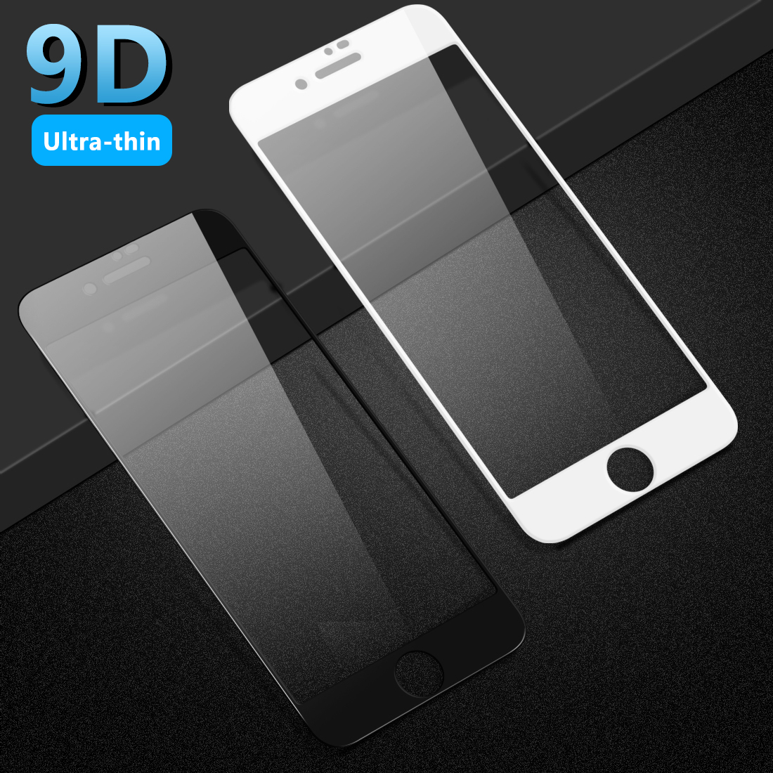 9D tempered glass film for Iphone 8 full coverd protector screen protector glass For Iphone 8 Plus in Phone Screen Protectors from Cellphones Telecommunications
