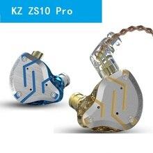 цена на KZ ZS10 Pro Earphones 4BA+1DD Hybrid Earphone  In Ear Headphone  DJ  Earphone Earbuds HIFI Headset KZ ZS10PRO AS10 AS16 ZSX