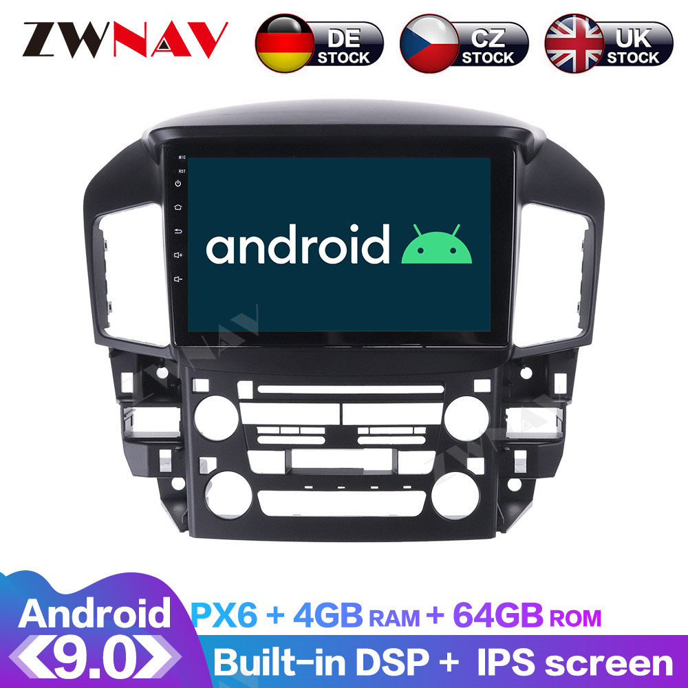 <font><b>Android</b></font> 10 With DSP Carplay IPS Screen For Lexus RX300 1998 1999 2000 <font><b>2001</b></font> 2002 Car <font><b>GPS</b></font> Navigation Radio DVD Player Multimedia image