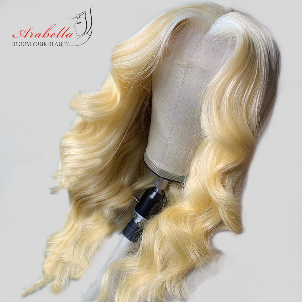 613 Lace Front Wig Brazilian Body Wave Remy Human Hair Wigs Arabella Lace Frontal Wig 180% Density 13*4 Blonde Lace Front Wig image