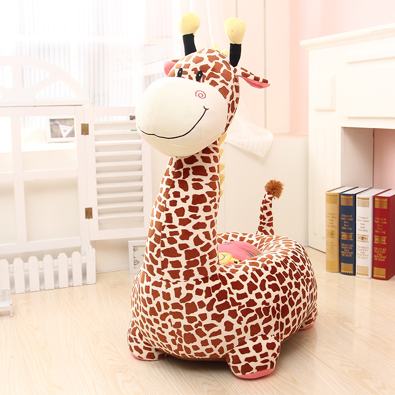 Giraffe Dinosaur Cartoon Plush Toy Children Lazy Baby Sofa Seat Stool Boys And Girls Birthday Gift