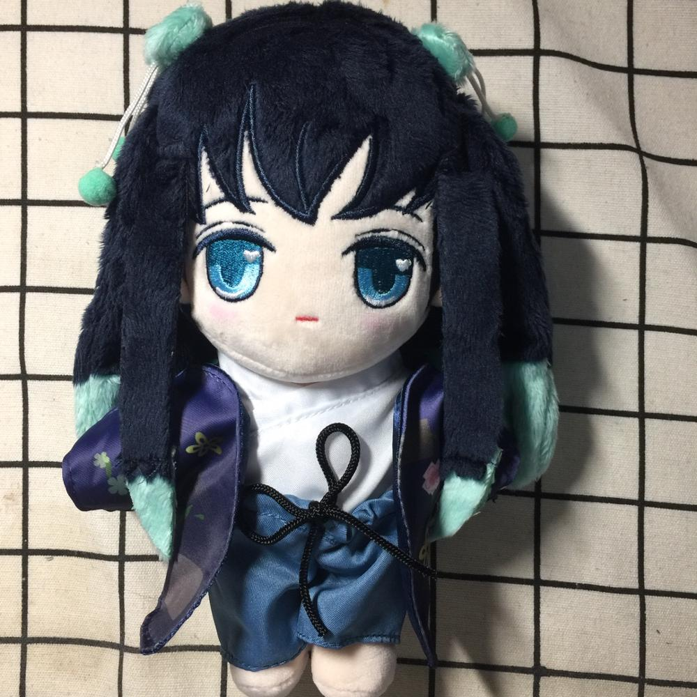 Anime Demon Slayer Kimetsu no Yaiba Tokitou Muichirou Cute Cosplay Plush Doll Cushion Dress Up Clothing Toys Christmas Gift 20cm