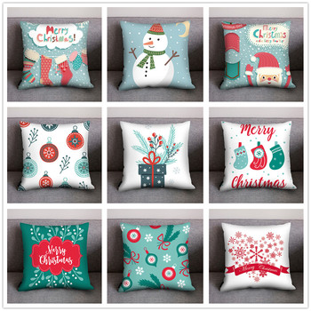 2020 Christmas Cushion Cover Decorative Sofa Pillow Cover Case Seat Car Home Decor Throw Pillowcase Christmas Decor For Home image