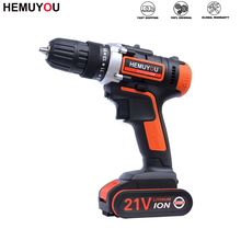 Electric-Screwdriver Cordless-Drill Smart-Battery-Display Lithium-Ion-Battery DC 21V