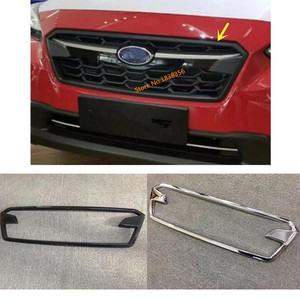 Para subaru xv 2018 2019 2020 etiqueta do carro capa abs chrome/fibra de carbono guarnição frente up racing grade grade quadro 1pcs