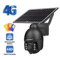 INQMEGA telecamera solare esterna WIFI / 4G SIM Card sicurezza Wireless staccabile videocamera solare CCTV videosorveglianza