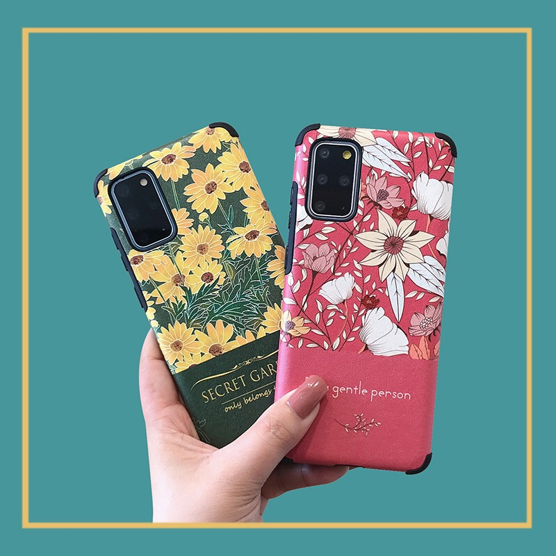 Luxury Floral Anti-Shock Soft Silicon Case for Samsung S20 Plus S10+ A51 A71 A50 A70 A10S A20S A30S Note 10 Plus Fashion Cover